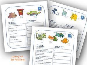 Lesespiele Grundschule zum Ausdrucken: Logicals 2. Klasse