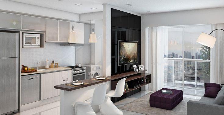 Cozinha pequena e clean