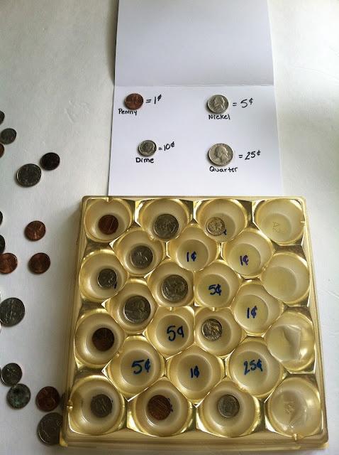 Money sorting/matching game. Kids can practice naming ...