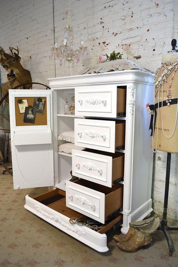 Покрашенный коттедж Шебби-шик романтик французского paintedcottages