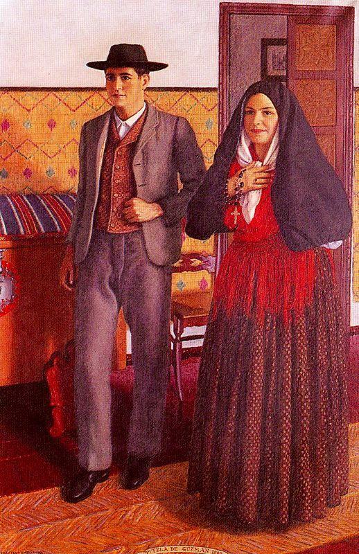 Puebla de guzmán 1880. 1954. Obra de Sebastián García Vázquez