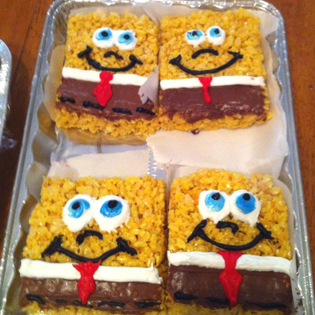 Spongebob Rice Krispie Treats! Pretty simple! Just a few pointers ...