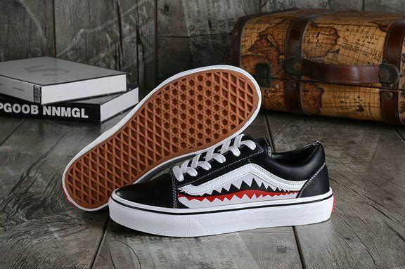 Vans X Bape 17SS Black Shark Mouths