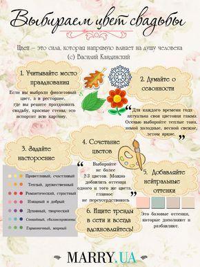 12 МЕСЯЦЕВ ДО ДНЯ СВАДЬБЫ: ПОЛНОЕ РУКОВОДСТВО К ДЕЙСТВИЮ. Выбираем цвет свадьбы