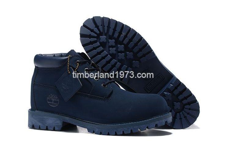 New Fashion Timberland Chukka Boots Kids Waterproof Oxford Blue $ 63.00