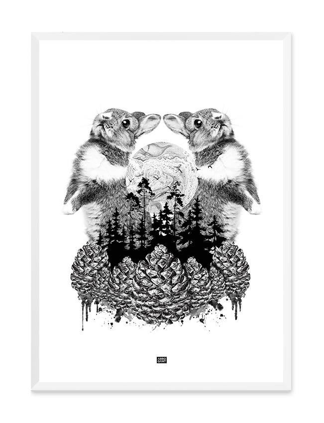 Forest Rabbit Print - Wall Art