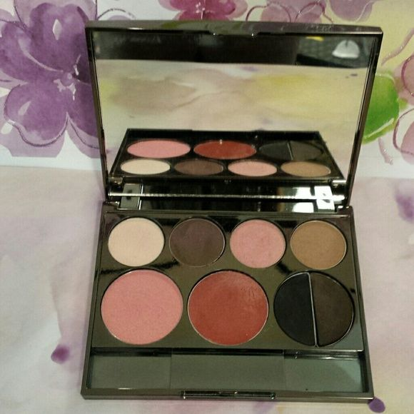 BORGHESE Makeup Palette NWT Four Eye Shadows, One Blush, One Lip Gloss, One Eye Liner Black/Brown, Swatch a few once to see colors. BORGHESE  Makeup