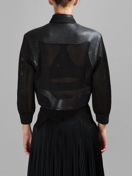ALEXANDER WANG WOMEN'S BLACK AERATED MESH JACKET