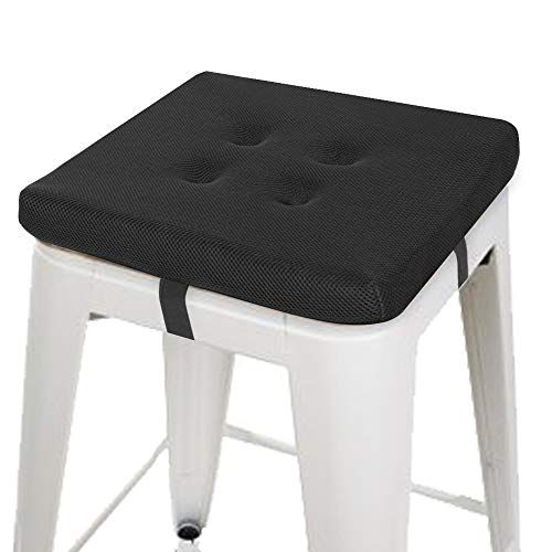 Review Baibu Square Chair Pads Super Breathable Stool Cushions Square Seat Cushions 12 Black Velcro Review B In 2020 Chair Pads Stool Cushion Dining Chair Pads