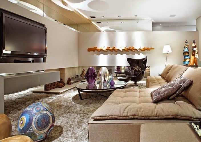 17 best images about sala living room on pinterest for Modelos de salas decoradas
