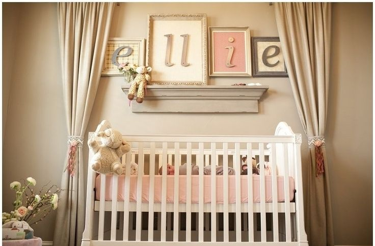 I love the framed letters as opposed to just the letters on the wall :)