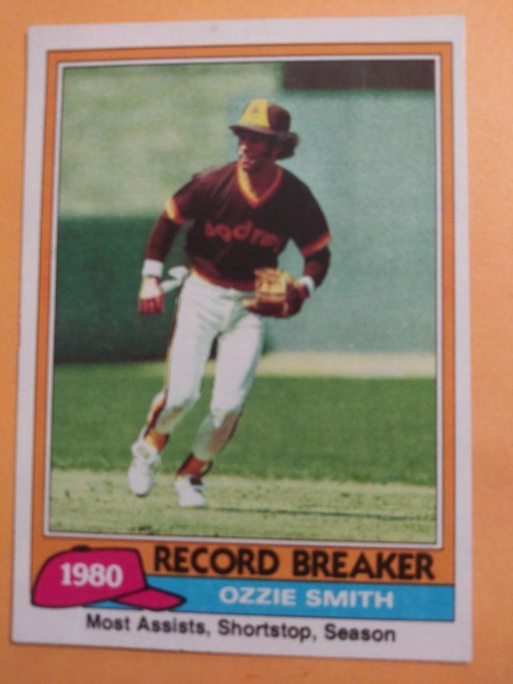 1981 topps ozzie smith san diego padres 207 baseball card