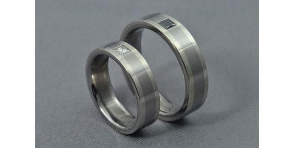 Black and White – Titán/Fehérarany/Gyémánt – Jegygyűrű, Karikagyűrű