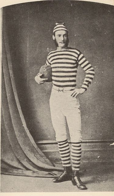 Football Player, 1870s via http://www.flickr.com/photos/glenhsparky/6197056989/#