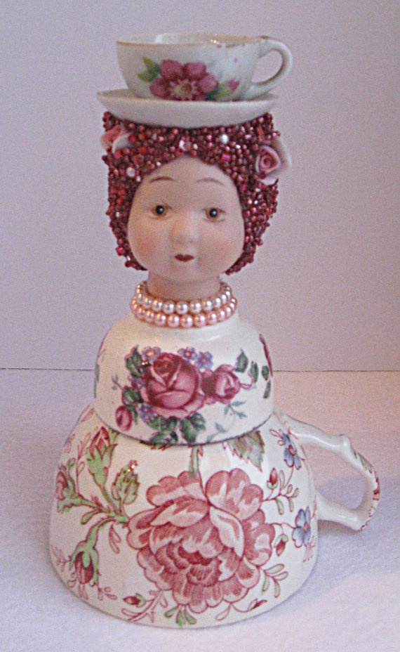 Marie Antoinette as a Porcelain Assemblage Doll by LaVera on Etsy, $40.00