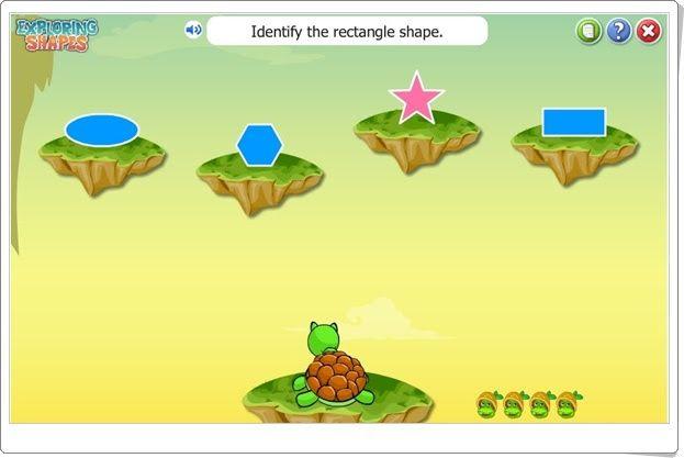Explorando las formas geométricas (Turtlediary.com)