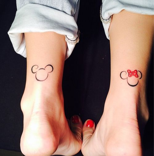 Mickey and Minnie Mouse Wrists