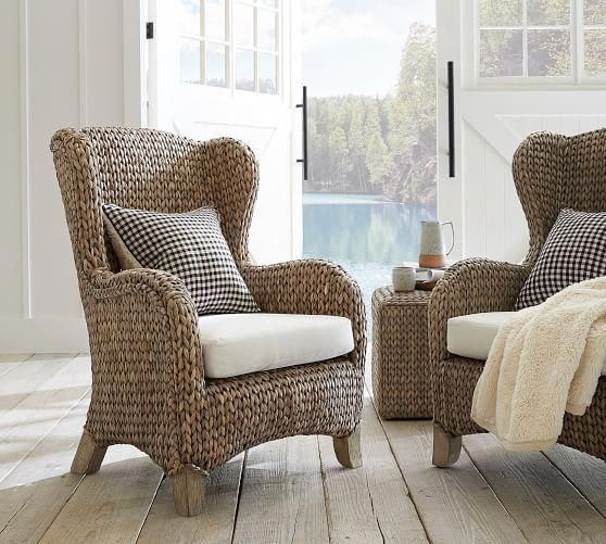 Seagrass Wingback Chair In 2019 Wingback Chair Single