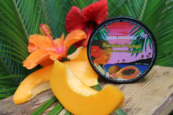 Papaya Enzyme Exfoliating Tropical Face Mask  100% natural