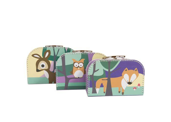 Sebra kuffertsæt i lilla farve - Tinga Tango Designbutik legetøj