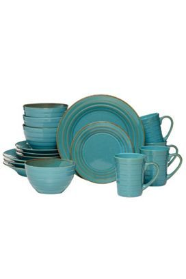 Pfaltzgraff Athena 16-pc. Teal Dinnerware Set | Bealls Florida