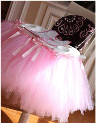 how to make a no sew high chair tutu 2