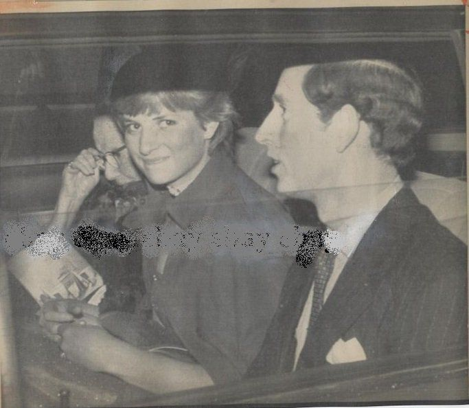 Charles and Diana. Wow, she looks SO young here!