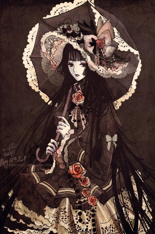 Most popular tags for this image include: anime, gothic, art and xxxholic
