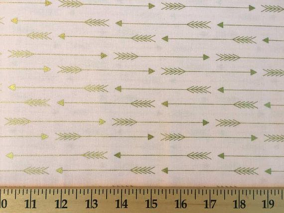 Tribal Gold Arrow Pink Blush /& Metallic Gold Arrows Cotton Fabric a4//10