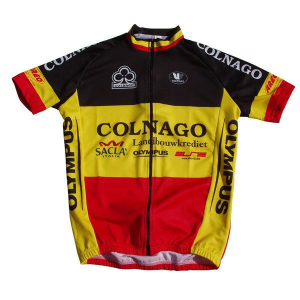 Tom Steels of Landbouwkrediet–Colnago was the #BelgianChampion of 2004 and this was his #CyclingJersey  _________________   #TheCyclingJerseys | #CyclingJerseys | #CyclingKit | #CyclingKits | #BikeKit | #BikeKits | #RoadCycling | #Cycling | #CyclingStyle | #TeamKit  #LeTour | #Giro | #LaVuelta | #UCI | #TomSteels