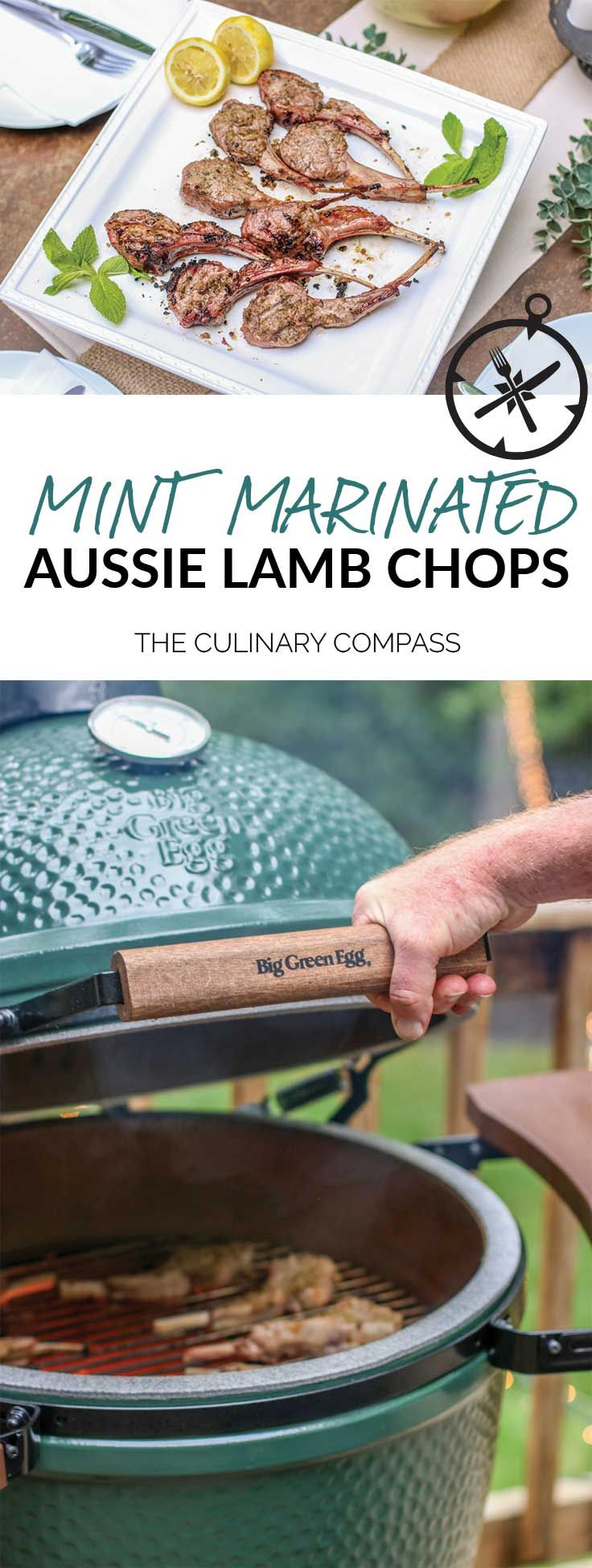 Impress your guests at your next get together with these Mint Marinated Aussie Lamb Chops! via @culinarycompass