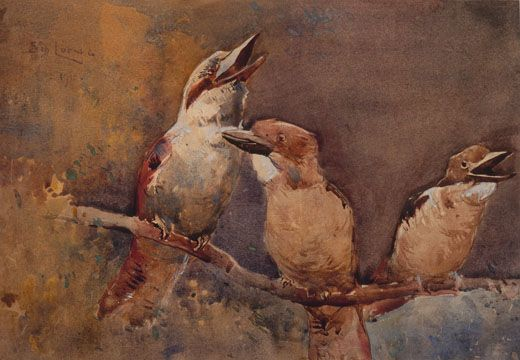 Kookaburras - Sydney Long - 1910