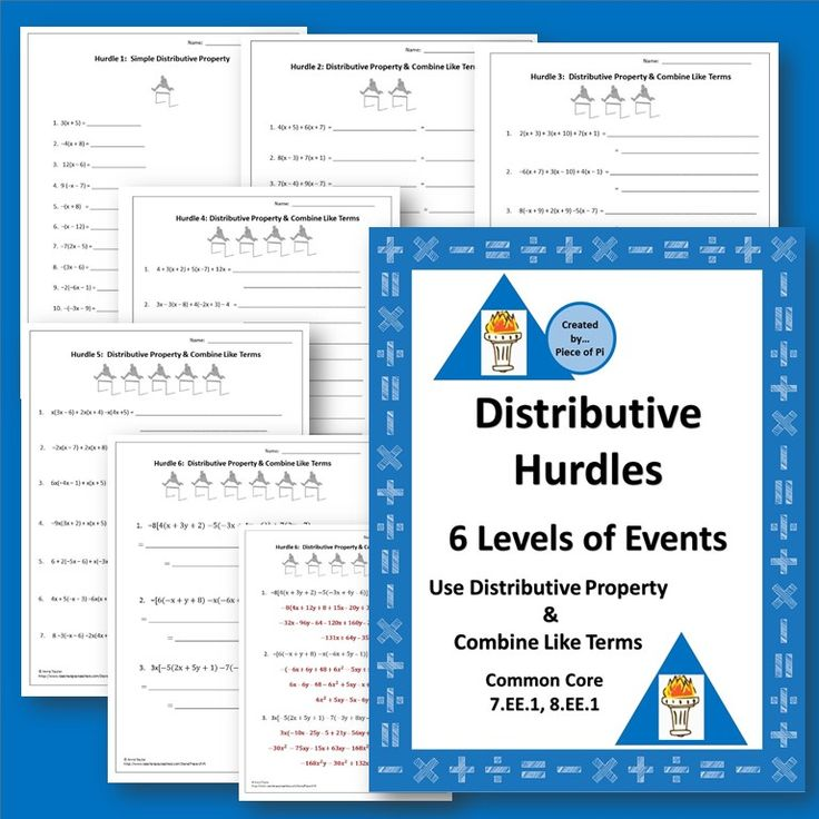 Distributive property and proportions worksheet answers