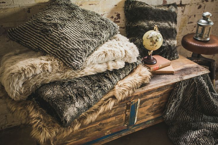 Bambury Faux Fur throws - perfect for winter