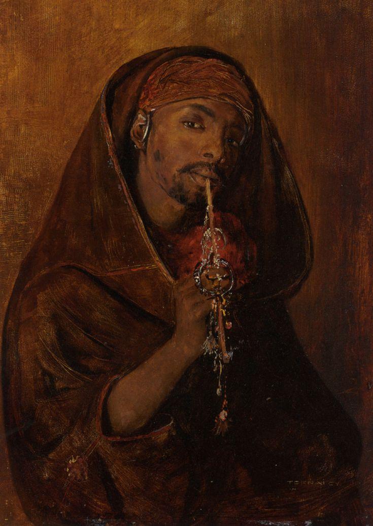 The Moorish Smoker by Gyula Tornai (Hungarian, 1861–1928)