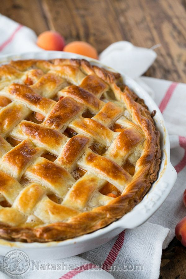This apricot pie will make your taste buds dance. I love that this apricot pie isn't overly sweet, serve with a scoop of vanilla bean ice cream on the side.