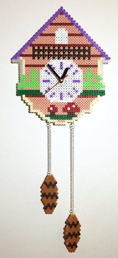 Orologio da parete Hama Beads