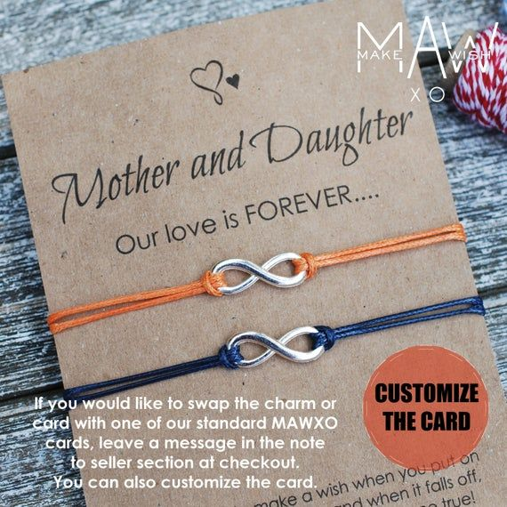 Mothers Day gift Infinity String Bracelet Infinity Wish Bracelet