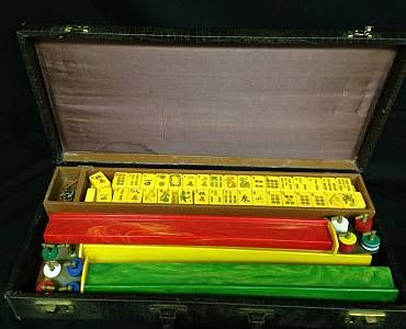 Lot 030 Asian Inspired MahJong Set In Case - Online Auction by Invited Sales