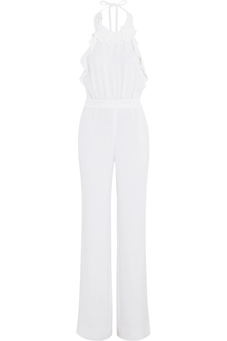 Shop on-sale Diane von Furstenberg Blithe ruffle-trimmed silk-crepe jumpsuit. Browse other discount designer Jumpsuits & more on The Most Fashionable Fashion Outlet, THE OUTNET.COM