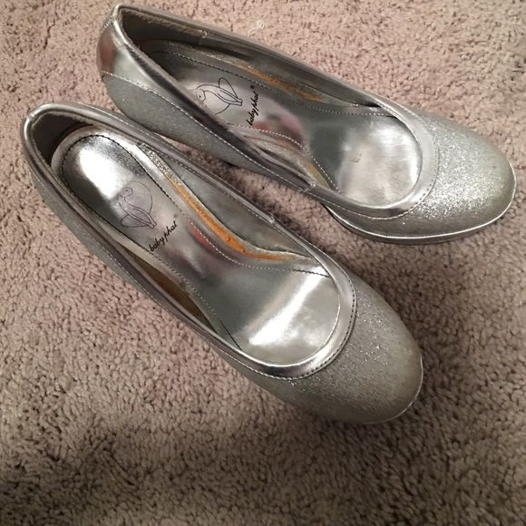 silver heels worn to all three of my proms, love them. comfy and easy to get around in Baby Phat Shoes Heels