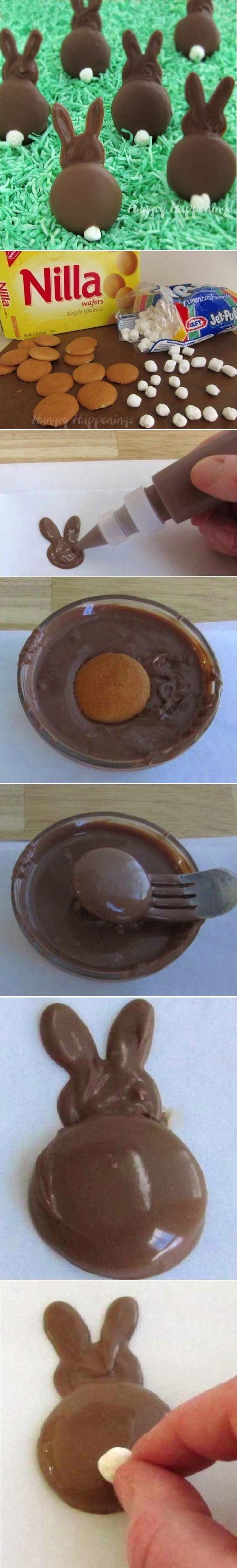 DIY Chocolate Wafer Bunny