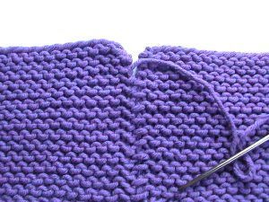 invisible seems in garter stitch - useful for joining all those mitered squares into a blanket.
