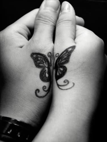43 Tatuajes de mariposas pequeñas - Tätowierungen