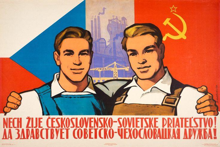 """Soviet Visuals on Twitter: """"""""Long Live Soviet-Czechoslovak Friendship!"""" Soviet poster https://t.co/s8gRlg1n2d https://t.co/xVM8cWblXq"""""""