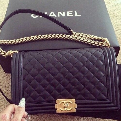 love fashion Glitter dream black luxury bag rich nails expensive ...""