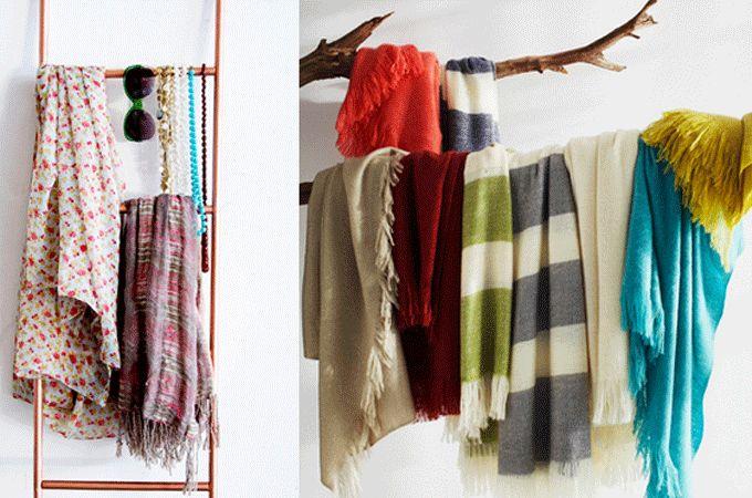 4 creatieve ideeën om jouw sjaals op te hangen