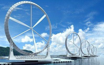Energia eólica flotante en el mar con tecnología de turbinas de viento
