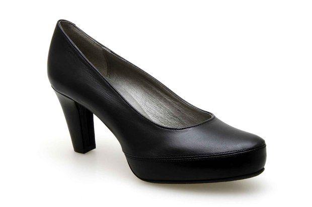 Escarpins compensés DORKING 5794-SA Noir - Chaussures femme