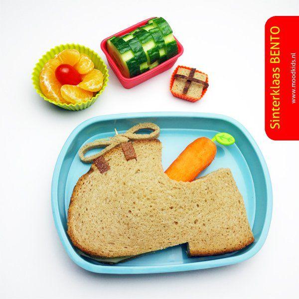 Lunch sinterklaas - leuk bento idee voor de sint trommel | Moodkids